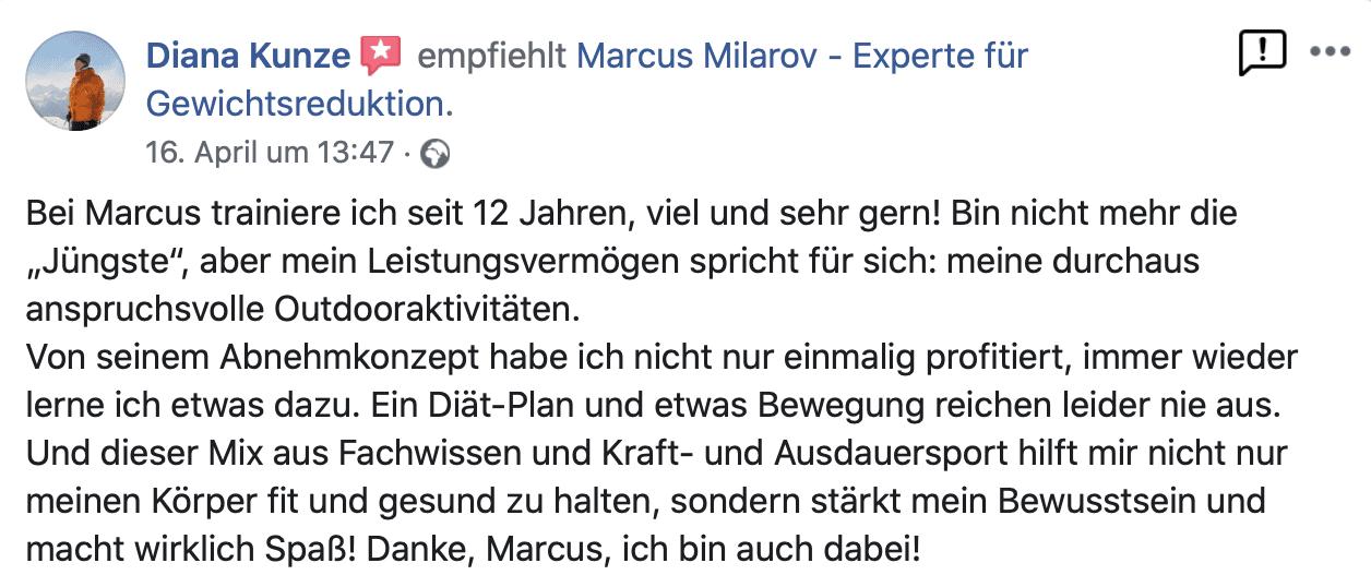 Kundenbewertung Personal Training in Berlin