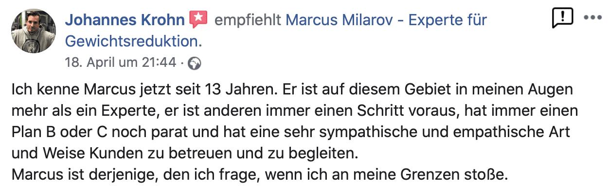 Kundenbewertung Personal Trainer Berlin Reinickendorf
