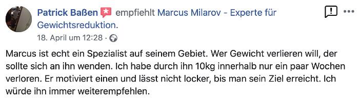 Marcus Milarov Personal Training in Berlin Pankow Kundenbewertung